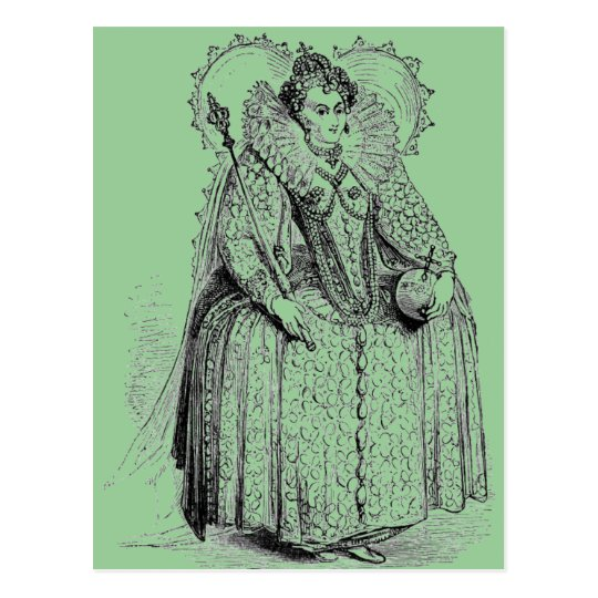 Elizabethan Clothing Postcard