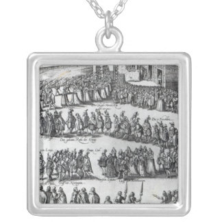 Elizabethan Procession Silver Plated Necklace