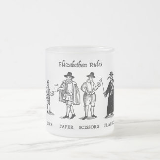 Elizabethan Rules (mug) Frosted Glass Coffee Mug