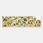 Elizabethan Swirl Embroideries - Goldwork imitatio Car Bumper Sticker