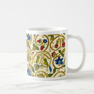 Elizabethan Swirl Embroideries - Goldwork imitatio Classic White Coffee Mug