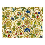 Elizabethan Swirl Embroideries - Goldwork imitatio Postcard
