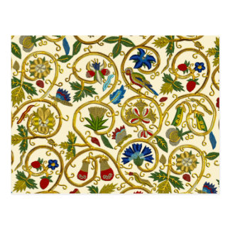 Elizabethan Swirl Embroideries - Goldwork imitatio Postcard