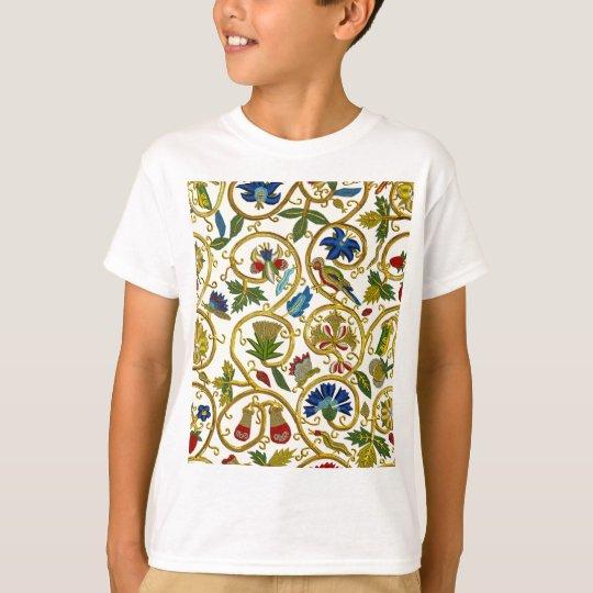 Elizabethan Swirl Embroideries - Goldwork imitatio T-Shirt