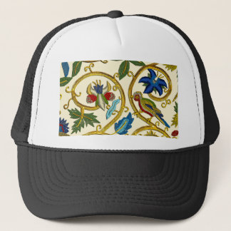 Elizabethan Swirl Embroideries - Goldwork imitatio Trucker Hat