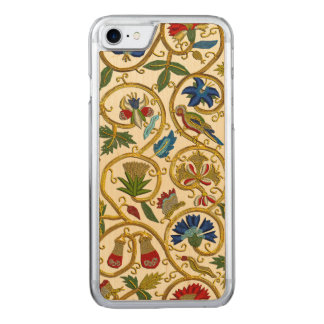 Elizabethan Swirl Embroideries-Goldwork imitation Carved iPhone 7 Case