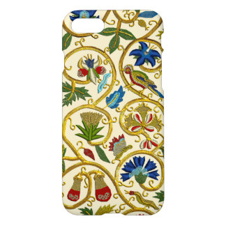 Elizabethan Swirl Embroideries-Goldwork imitation iPhone 7 Case