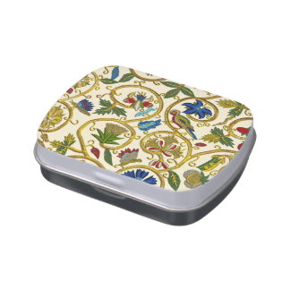 Elizabethan Swirl Embroideries-Goldwork imitation Jelly Belly Tins