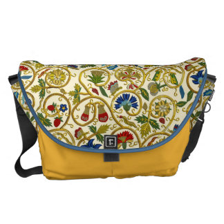 Elizabethan Swirl Embroideries-Goldwork imitation Messenger Bag