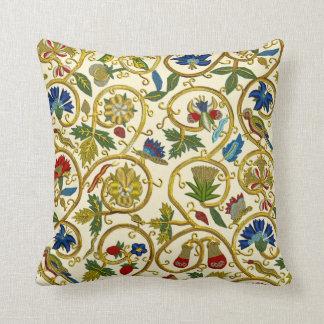 Elizabethan Swirl Embroideries-Goldwork imitation Pillows