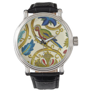 Elizabethan Swirl Embroideries-Goldwork imitation Wristwatches