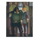 Elizabethans en un mesón tarjeta postal