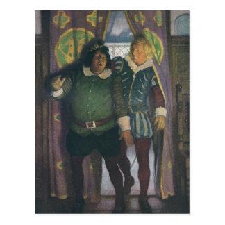 Elizabethans in an Inn Postcard