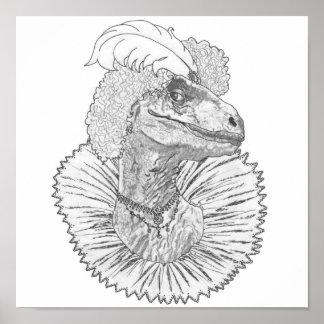 Elizabethasaurus Reginanychus Posters
