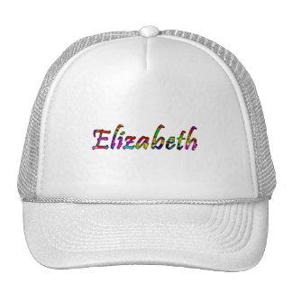 Elizabeth's white mesh cap trucker hat