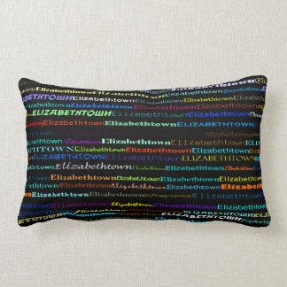 Elizabethtown Text Design I Lumbar Pillow