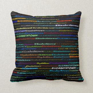 Elizabethtown Text Design I Throw Pillow