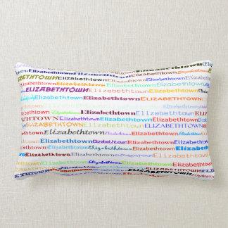 Elizabethtown Text Design II Lumbar Pillow