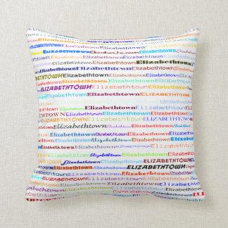 Elizabethtown Text Design II Throw Pillow