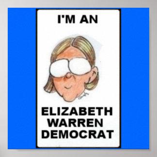 Elizabth Warren Democrat Poster