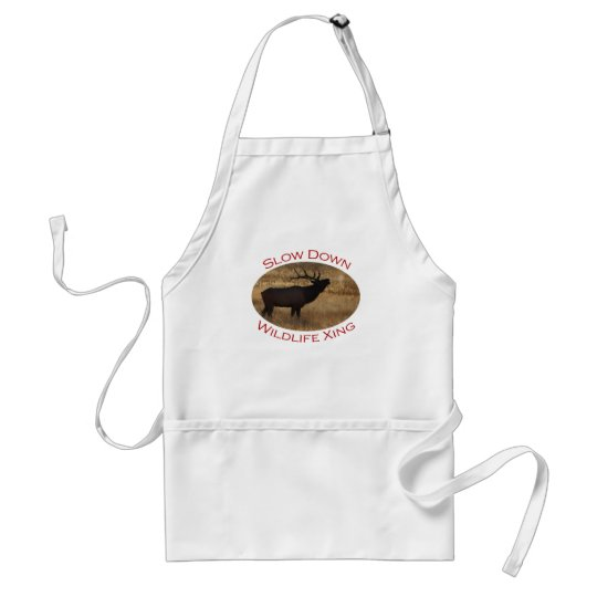elk adult apron