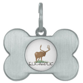 Elk-aholic Pet ID Tag