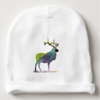 Elk art baby beanie
