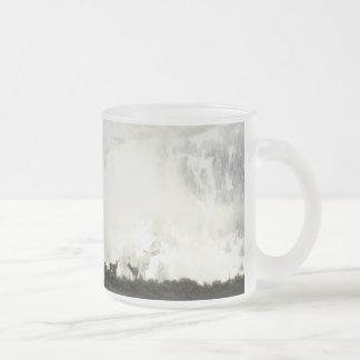 Elk at Grand Teton National Park Photography Frosted Glass Coffee Mug