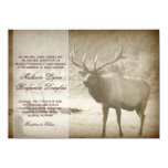 "Elk Big Game Wildlife Antlers Wedding Invitations 4.5"" X 6.25"" Invitation Card"