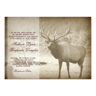 Elk Big Game Wildlife Antlers Wedding Invitations