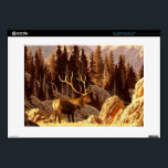 "Elk Bull 15&quot; Laptop Skins<br><div class=""desc"">image from an original painting by larry jacobsen. / af-021  &#169; and &#174; Bigstock&#174; - All Rights Reserved.</div>"