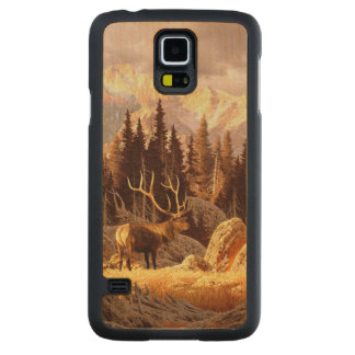 Elk Bull Carved Maple Galaxy S5 Case