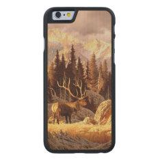 Elk Bull Carved Maple Iphone 6 Slim Case at Zazzle