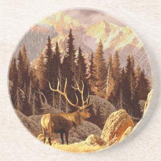 Elk Bull Drink Coaster