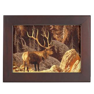 Elk Bull Keepsake Boxes