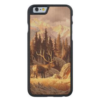 Elk Bull Carved® Maple iPhone 6 Slim Case