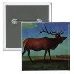 Elk By Albert Bierstadt Pinback Buttons