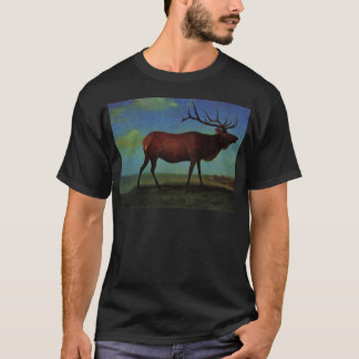 Elk By Albert Bierstadt T-Shirt