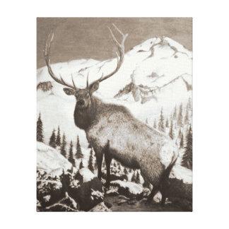Elk Canvas - Coastal Mountain Monarch
