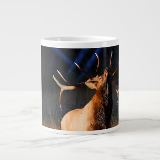 Elk Charging Giant Coffee Mug