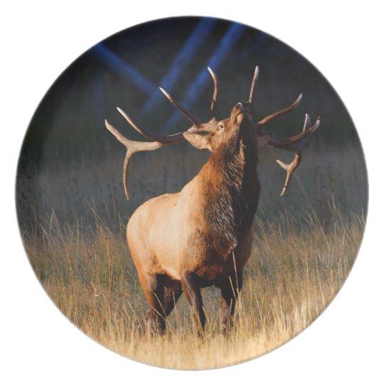 Elk Charging Melamine Plate