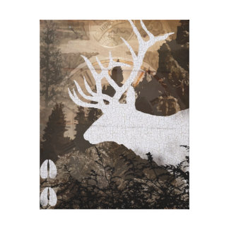 Elk Collage Canvas Print