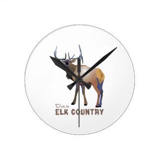 ELK COUNTRY ROUND CLOCK