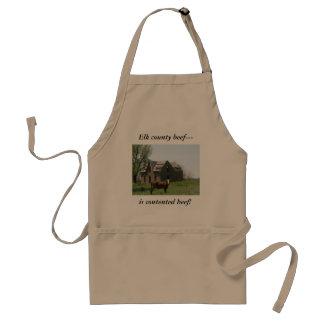 Elk county beef--- is contented beef! adult apron