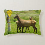 Elk Crossing California Wildlife Accent Pillow