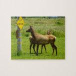Elk Crossing California Wildlife Puzzle