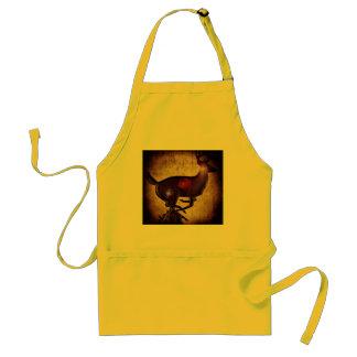 Elk dinner bell/apron adult apron