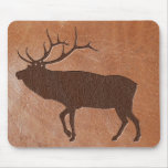 Elk Embossed Leather Mouse Pads