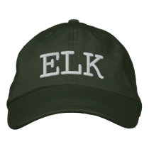 ELK EMBROIDERED BASEBALL HAT