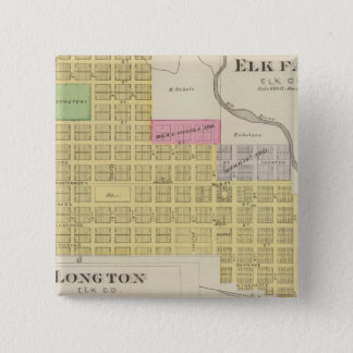 Elk Falls, Longton, Oak Valley, Kansas Pinback Button